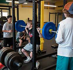 Fitness Center - Kids Working Out GFPS Foundation