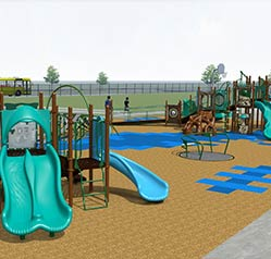 Inclusive playground at Longfellow Elementary